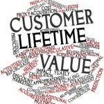 Abstract word cloud for Customer lifetime value with related tags and terms