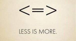 Less is more symbols